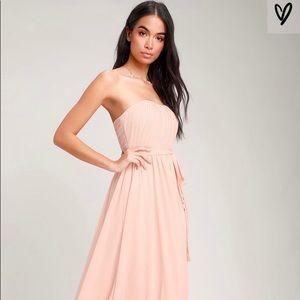 Lulu's Blush Pink Maxi Dress